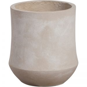 Jacinta 28cmx31cm Concrete Planter | Milky White