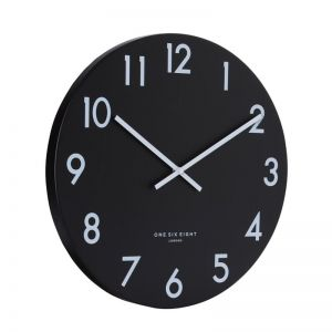 Jackson Silent Wall Clock | 30cm | Black