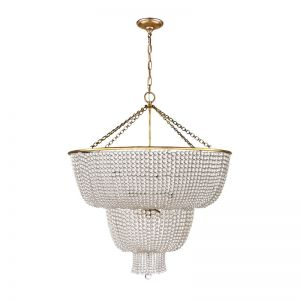 Jacqueline Two-Tier Chandelier | by The Montauk Lighting Co.