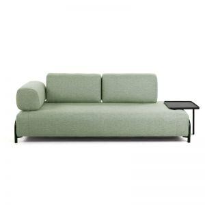 Jada Green 3 Seater Sofa with Tray