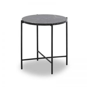 Jaden Side Table Small | 45cm | Black & White