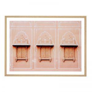 Jaipur Shutters   Framed Art Print