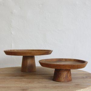 *Jali Wooden Cake Stand - delivery Oct/Nov 2019