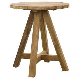 Jalta 80cm Round Reclaimed Teak Bar Table | Schots