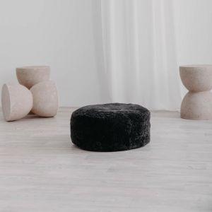 Jamieson Sheepskin Ottoman | 50cm Ash | Pre-Sale July | Huxford Grove