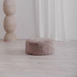 Jamieson Sheepskin Ottoman | 50cm Latte | Pre-Sale July | Huxford Grove
