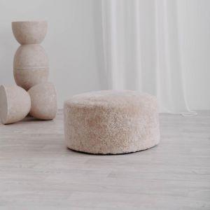 Jamieson Sheepskin Ottoman | 60cm Cream | Huxford Grove