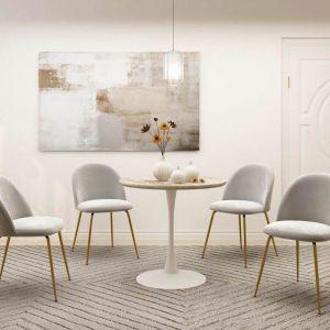 Jana White Mid-Century Design Round Dining Table