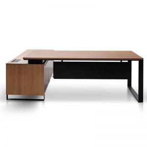 Janell 2.3m Right Return Office Desk - Natural