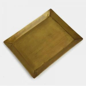 Japanese Brass Rectangular Dish