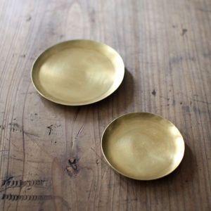 Japanese Brass Round Dish