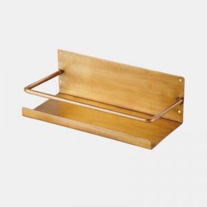 Japanese Brass Shelf with Bar