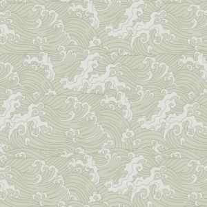 Japanese Wave Wallpaper - Pale Green