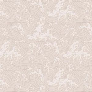 Japanese Wave Wallpaper - Pale Pink