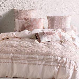 Jarrio Blush Bed Linen Quilt Cover Set | by Kas Australia