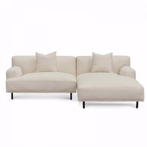 Jasleen Right Chaise Sofa | Ivory White Boucle