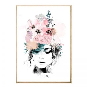 Jasmine Headdress | Framed Art Print