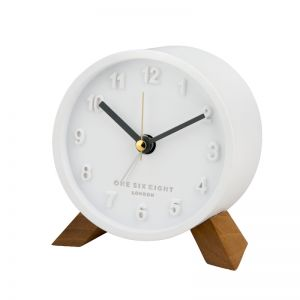 Jasmine Open Dial Silent Alarm Clock - White