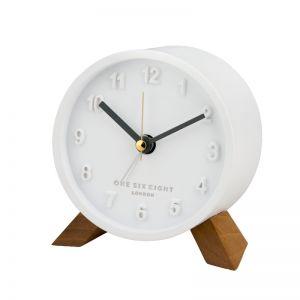 Jasmine Open Dial Silent Alarm Clock - White | Pre Order