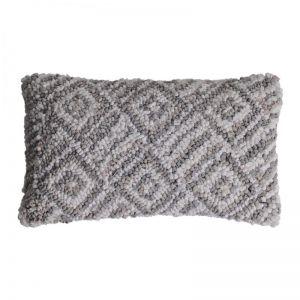 Jasper Lumbar Cushion | White/Grey | BY SEA TRIBE
