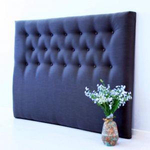 Jasper Plush Bedhead in Warwick fabric by BedsAhead | Custom Made | QUEEN SIZE