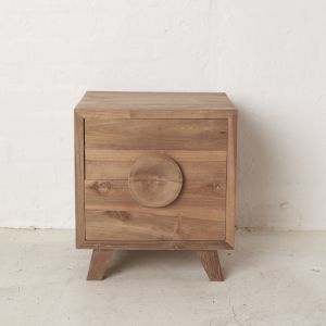 Jayna Teak Bedside Table l Custom Made