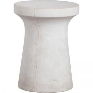 Jenola 35x45cm Concrete Stool | Milky White | Schots