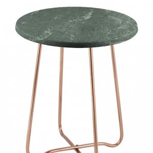 Jessica Marble Side Table   Copper/Green