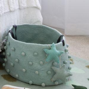 Jester Felt Storage Basket | Eggshell Blue