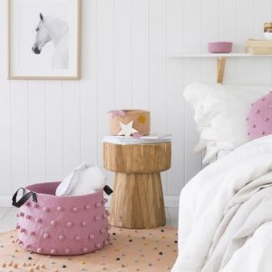 Jester Felt Storage Basket | Pink