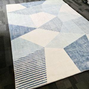 Jigsaw Rug | Soft Blues