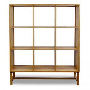 Johan Wooden Display Bookcase | Natural