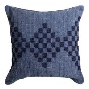 Johanna Enbroidered Cushion | 50x50cm | Indigo