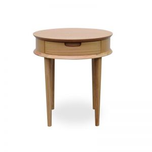 Johansen Scandinavian Lamp Side Table with Drawers | Natural | Interior Secrets