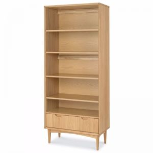 Johansen Wide Wooden Bookcase | Natural