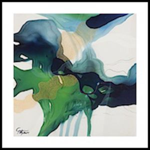John Martono 'Green Serenade'   Framed print by Tusk Gallery