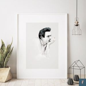 Johnny Cash by ANDLIZZY | Unframed Print