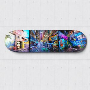 Joker on Hosier | Skateboard Deck Wall Art | Graffiti Photography | Blue Herring