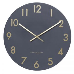 Jones Silent Wall Clock | 30cm | Charcoal