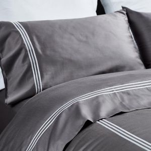 Jonquil Hotel Quilt Set | Stone | 100% Organic Cotton & Fairtrade