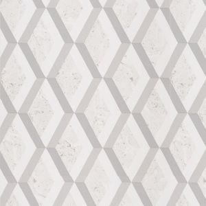 Jourdain Trellis Wallpaper - Steel
