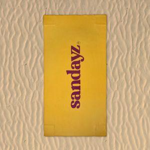 Juicy J | Beach Towel with sand pockets | Micro fibre | Yellow