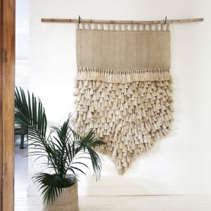 Jumbo Tassel Wall Hanging | Natural
