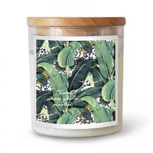 Jungle Kitty Bloom Where You're Planted   Ourlieu Collab Soy Candle