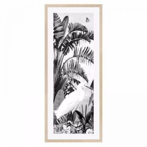 Jungle Noir Egret Framed Print | freedom