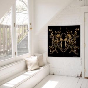 Jungle Warrior in Black | Canvas Print | Libby Watkins