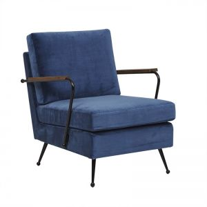 Juno Conrad Sofa Chair | Dusk Blue/ Black