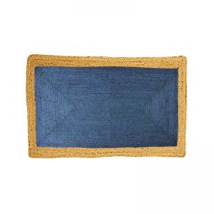 Jute Floor Mat | Phoenix Indigo Blue