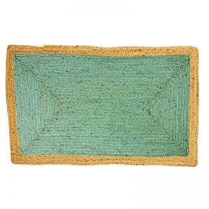 Jute Floor Mat | Phoenix Sea Green