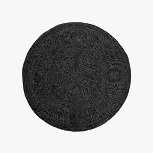Jute Round Rug | Black by Aura Home
